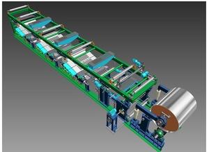 三核高产能硅酸钙板生产线制板主机为年产800万平米,多品种而设计,是更新换代或扩大经营利器